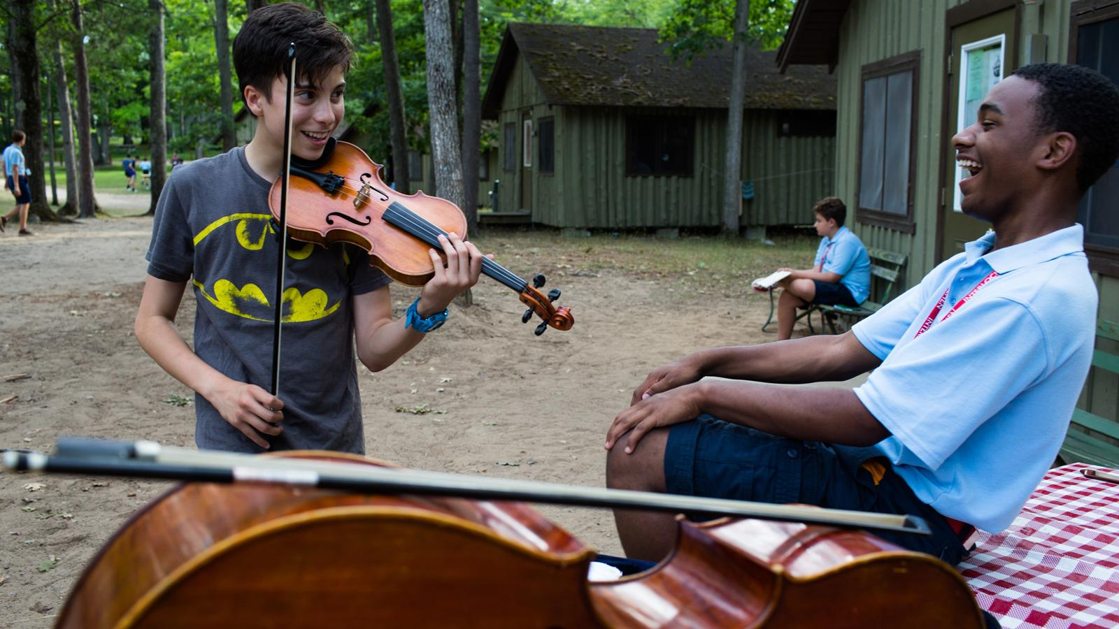 Interlochen Arts Camp students