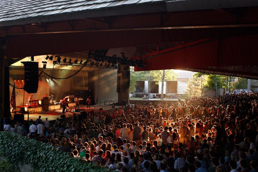 avett brothers playing in kresge auditorium at interlochen center for the arts