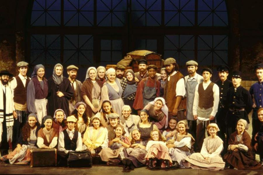 In the summer of 1998, Josh Groban (bottom row, fourth from left) starred as Perchik in Fiddler on the Roof.