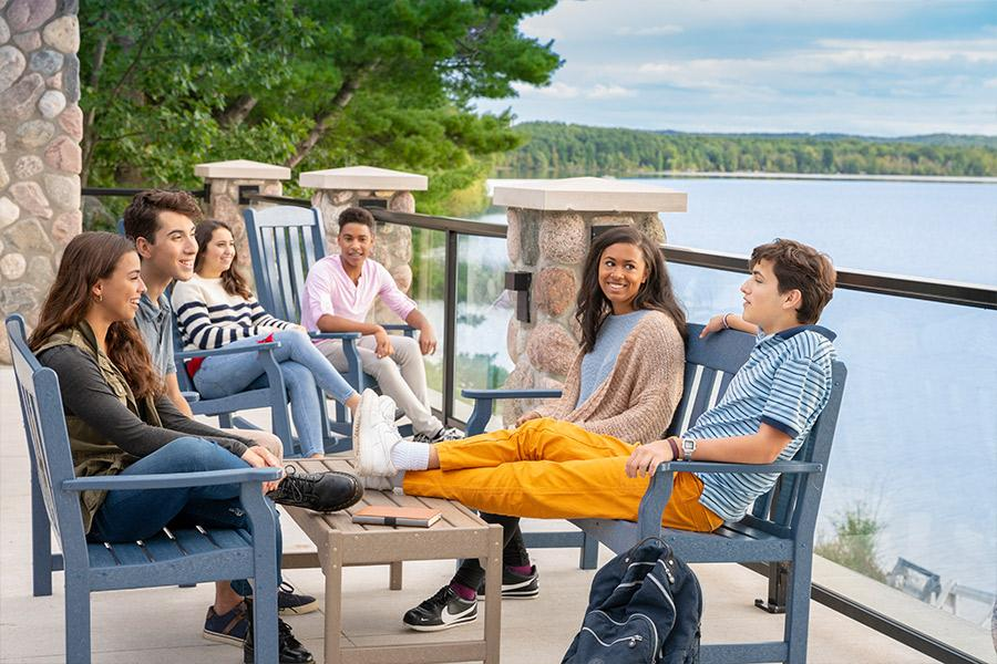 students on dotties deck interlochen center for the arts